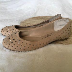 "Jessica Simpson ""Mikia"" Ballet Flats 7M Cocoa Sand"